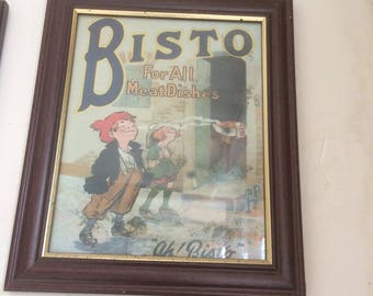 Bisto advert reproduction of 1930s original 70