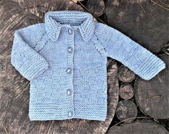 Grey kids sweater baby sweater baby girl jumper baby boy jumper baby wool cardigan baby cardigan baby knitted cardigan baby sweatshirt gray