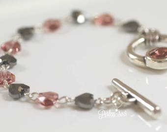 Bracelet, heart made WITH SWAROVSKI® element