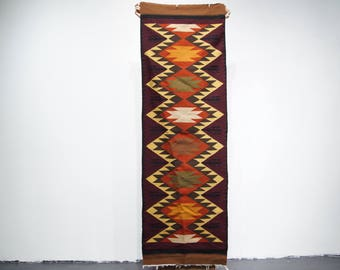 Beautiful handwoven  runner style rug o tapestry from Ecuador