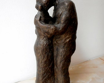 Home sculpture, Мodern sculpture, Bronze sculpture, Bronze statue of  Lovers , Limited edition, Small sculptural plastic