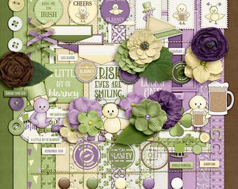 Year in Review- March- Digital Scrapbooking Kit - 17 Paper - 60 Plus Elements - Paper Size - 12 x 12 Inches