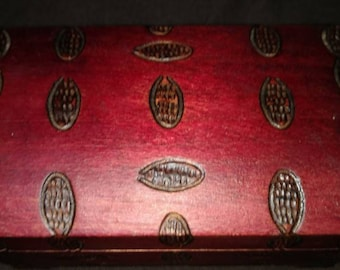 Hand-carved wooden Polish jewelry box