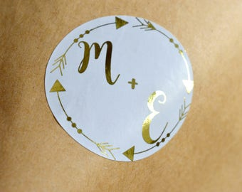 Personalized Wedding Stickers Wedding Favors Stickers Custom Wedding Stickers Gift Packaging Foil Stickers  Product Labels Simple Thank You