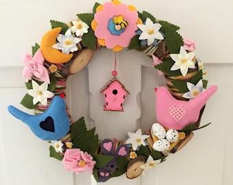 Romantic spring wreath