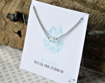 Crystal stainless steel necklace