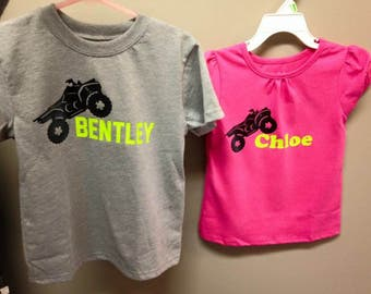Four wheeler ATV Shirt for birthdays or gifts vinyl