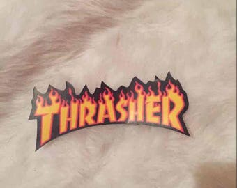 Thrasher flame sticker