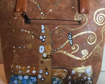Klimt tree of life tipinta hand bag