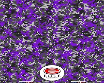 "Digital Camo Purple 2 15""x52"" or 24""x52"" Truck/Pattern Print Tree Real Camouflage Sticker Roll or Sheet"