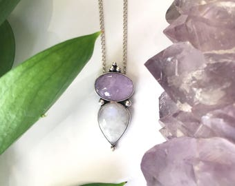 Amethyst & Moonstone Necklace