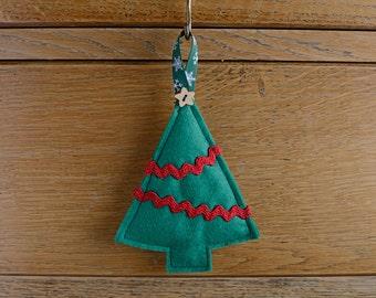 Felt Tree Hanging Christmas Decoration Green