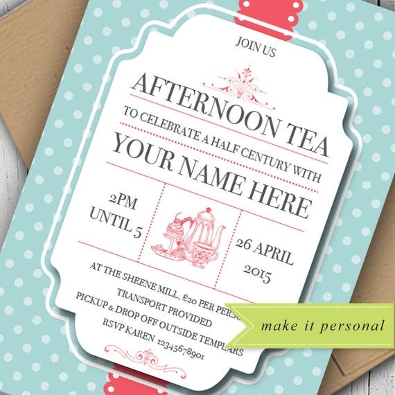 schäbige schicke einladung am nachmittag tee-einladung, Einladung