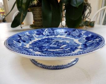 Wedgwood Transferware Pedestal Plate Bowl