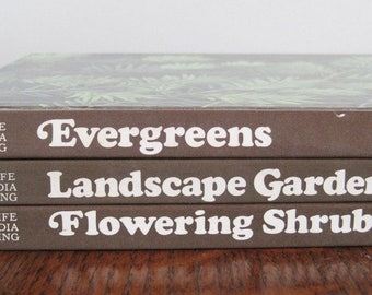 Books, Gardening Books, Set of 3 Time-Life Books, 70's Gardening Books
