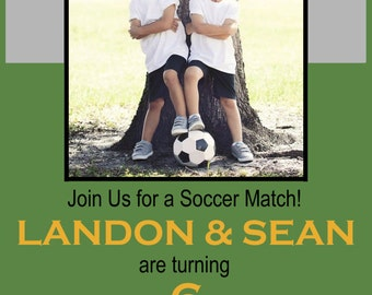 Printable Soccer Birthday Invitations