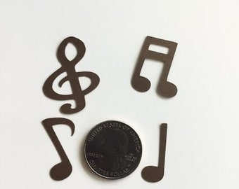 Brown Music Notes Confetti Table Scatter Party Decorations