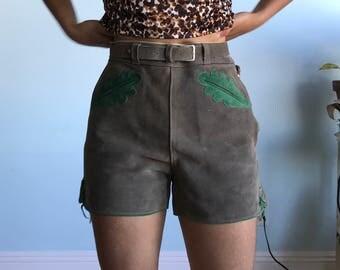 """Vintage sz s/m """"36"""" leather shorts"""