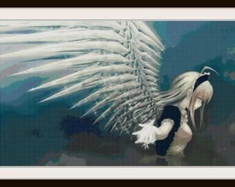 Anime Cross Stitch Pattern - Angel Anime - Anime