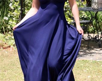 Blue Maxi Dress, Blue long dress, Evening dress, Blue dress, Wedding dress, Prom dress, Sleeveless dress, Sleeveless Long dress