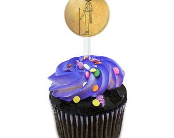 Hathor Ancient Egyptian Goddess Cake Cupcake Toppers Picks Set