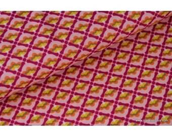 Drawing Mango2780 x50cm pink printed cotton Poplin fabric