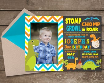 Dinosaur Invitation, Dinosaur Birthday Invitation, Dinosaur Invite, Dino Birthday, Dinosaur Party, Dino Invitation, Dinosaur Invite