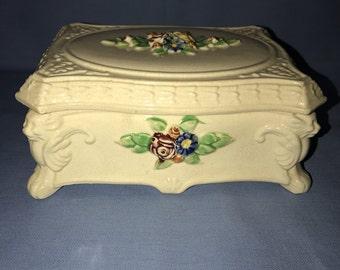 Decorative box Made in Japan Floral Box Porcelain box Trinket Box Keepsake Box