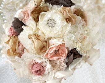 Shipped Shipped bride /Bouquet loan ready / Decoration, bouquet, dirty Silk Bouquet, Flowers, Fabric Brooch, Brooch Bouquet