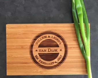 Personalized Gift Engraved Chopping Board for Wedding Birthday Engagement Gift