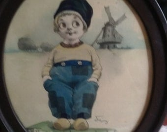Vintage Dutch Boy Print