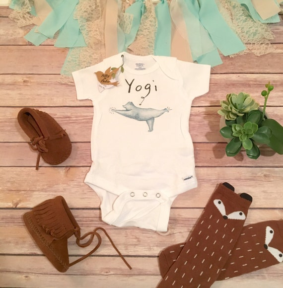 Baby Gifts Yoga : Bear onesie? hipster baby clothes yoga