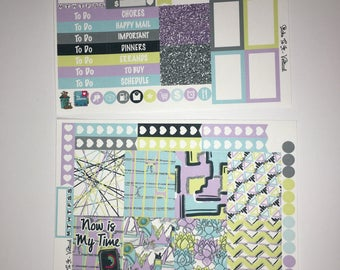 Spring Into Fitness Mini Weekly Set ECLP Horz & Vert Planner Stickers Erin Condren Mambi Inkwell Press Filofax KikkiK Happy