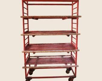 Vintage Fruit Drying Rack Storage