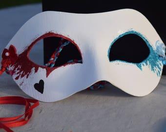 Harley Quinn masquerade mask party mas mardi gras mask halloween mask costume mask womens mask girls mask cute mask
