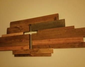 Rustic cross wall hanging.
