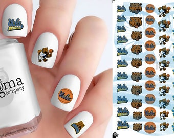 UCLA Bruins Basketball Nail Decals (Set of 50)