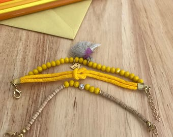 Beaded bracelet 2 pieces