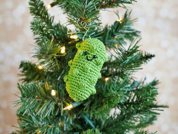 Crochet German Pickle Christmas Ornament Pattern Pdf Instant