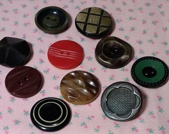 Assorted Vintage Plastic Buttons Lot #5