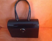 Vintage & Retro Handbags, Purses, Wallets, Bags Vintage black lucite Wilardy handbag $133.00 AT vintagedancer.com