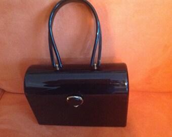 Vintage black lucite Wilardy handbag