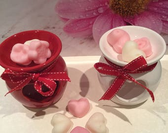 Heart Wax Warmer/Oil Burners available in Red & White