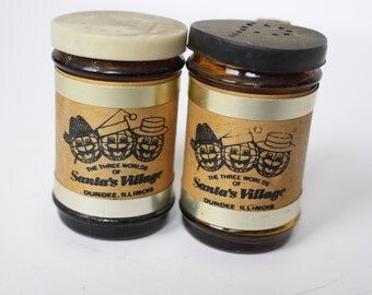 Vintage Santa's Village Salt and Pepper Shakers - Dundee, Illinois