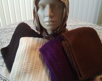 Hooded Scarf - Multiple Colors - Free Shipping