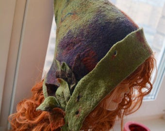 Felted fairy elf hat