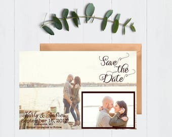 Vintage Save the Date, Save the Date, Wedding Save the Date, Photo Save the Date, Save the Date Postcard, Save Our Date, Wedding, Digital