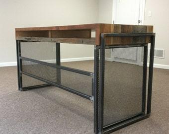 Industrial farmhouse desk