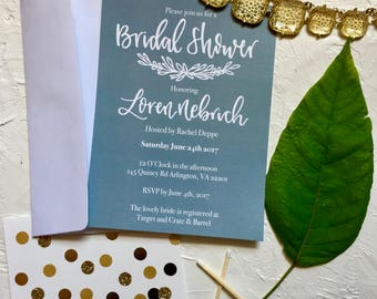 Bridal Shower Invitation, Bridal Shower, Bridal Shower Invite, Hand Lettered Invite