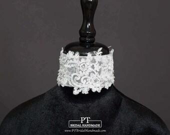Lace Bridal Necklace #69, Lace Necklace, Bridal Necklaces, Detachable Wedding Dress Collars, Wedding Dress Lace Necklace